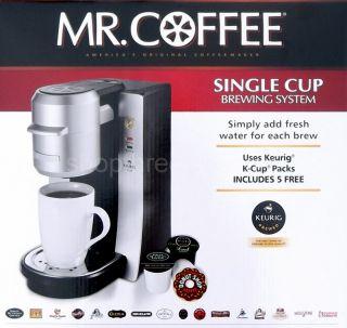 New Mr. Coffee Single Serve Coffee Maker Keurig K Cup Brewing System
