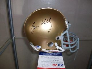 Notre Dame Fighting Irish Brian Kelly Signed Autographed Mini Helmet