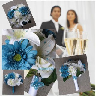Malibu Bridal Bouquets Malibu Wedding Set Malibu Bridal Flowers 13 Pce
