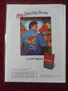 2002 Print Ad Doral Cigarettes ~ Parrot Shirt in the Tiki Hut Bar