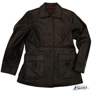 Bridger Lamb Leather Black Womens Small Jacket New
