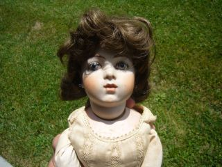Antique Bru Jne French Doll, No. 8, Closed Mouth, 21 tall, Bisque, No