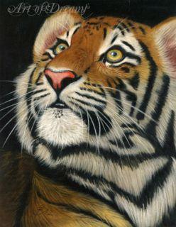 Tiger Big Cat Cub Kitten Katze Tigre Tijger Wildlife Painting Art
