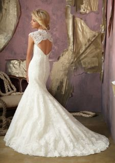 Mermaid Sweetheart Lace Wedding Dress Gown Prom Custom Size