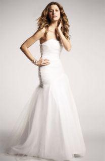 Christian Siriano Draped Tulle Princess Beach Wedding Dress Gown Sold