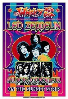 Jimmy Page & Plant with Led Zeppelin at the Whisky A Go Go Concert