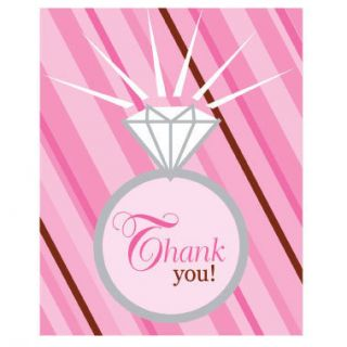 Bridal Wedding Shower Party Bride 2 Be Thank You Cards