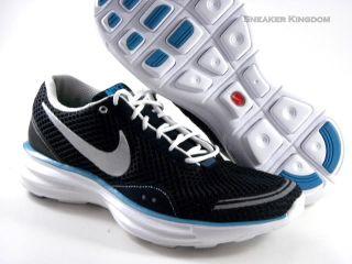 New Nike Lunar Trainer Black White Blue Running Women
