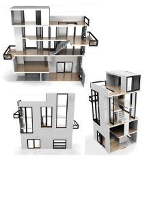 Bennett House brinca dada Dollhouse kit elevator pool classic modern