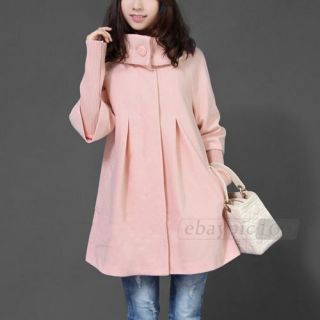 Thicken Cape Style Casual Loose Long Trench Coat Jacket Outwear Top M