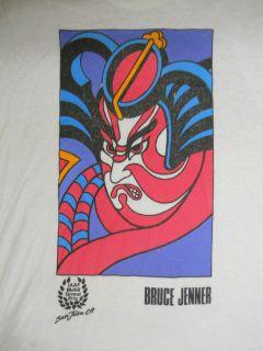Vintage Bruce Jenner Nike Sport Track Race Shirt Retro Hip Hop Punk