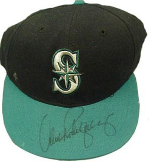 Alex Rodriguez Signed Game Worn Used Seattle Mariners Vintage 1996 Hat