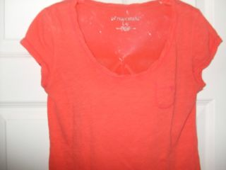 Large G Aeropostale Short Sleeve Summer Top Bright Orange