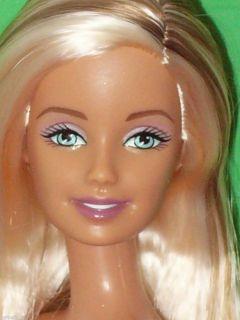 Brilliant Beauty Platinum Blond Brunette Streaks Big Beautiful Eyes