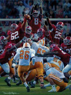 Alabama Daniel Moore Maximum Block Terrence Cody Print