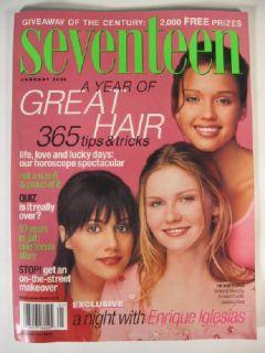 2000 Seventeen Magazine Brittany Murphy Kirsten Dunst Jessica Alba
