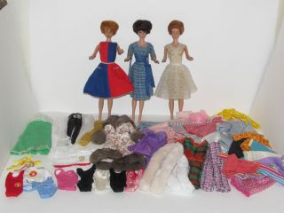 Barbie Midge Doll Bubble Cut Titan Brunette W Lot Clothes Swim Suit