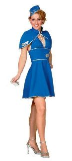 Britney Spears Air Hostess Fancy Dress Costume UK 8 10