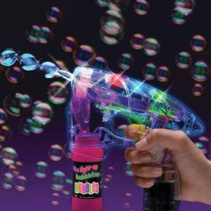 Multi Colored LED Light Show Bubbleizer Bubble Blaster Blower Gun