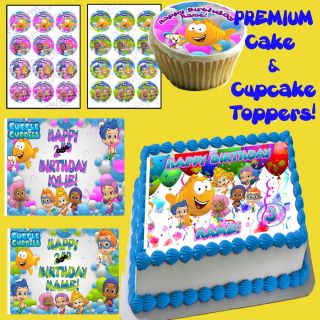 Bubble Guppies Edible Cake Cupcake Toppers Picture Decorations Sugar