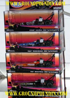 OF EACH 2011 NHRA Top Fuel Dragster Slot Cars Army/Fram/Copart