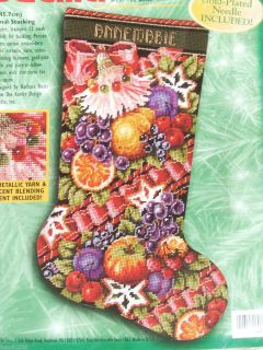 Bucilla Della Robbia Needlepoint Christmas Stocking Kit Baatz