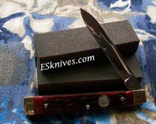 Buck Creek Doctors Knife Red Jigged Bone Handles 876RWJ