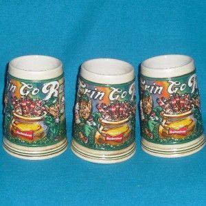 Erin Go Bud St Patricks Day Stein 1992 Budweiser Lot 3