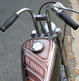 New Harley Buckhorn Drag Bar Handlebars Chopper Bobber