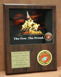 Marine Corps Plaque Inspirational Tom Brokaw Quote Wall Decor Art