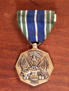 Army Service Medal/Ribbon FOR MILITARY ACHIEVEMENT BRONZE MEDAL