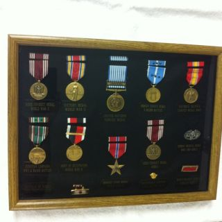 United States Army Bronze Star Medal A Lot Frame And Other Medals