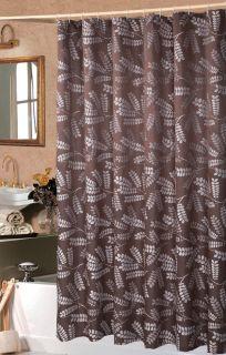 Brookdale Luxury Chocolate Shower Curtain