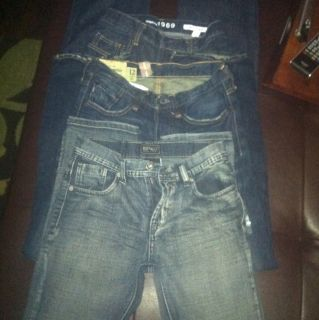 Value $210+))Boys Lot Of Jeans Size 12   Buffalo, abercrombie, and GAP