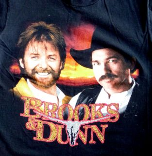 Mens Womens Black Vintage T Shirt Brooks Dunn Walkin on Sundown Tour