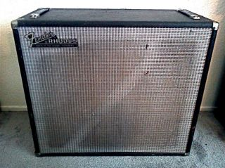 Vintage Fender 2x12 Empty Speaker Cabinet Early 1970s Era Rhodes NICE