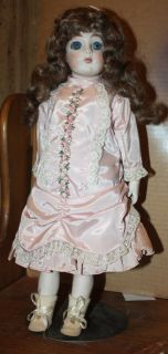 Bru JNE One Doll 1968 by Marie Cappart Repro with Stand