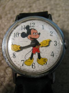 vintage mickey mouse walt disney production watch time left $
