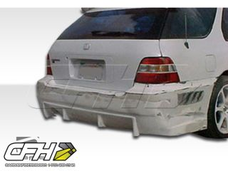 FRP 94 97 Honda Accord Wagon Buddy Rear Bumper Kit Auto Body 1pc Hot