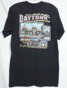 Harley Davidson T Shirt Daytona Beach Welcomes Bikers Rossmeyers Size