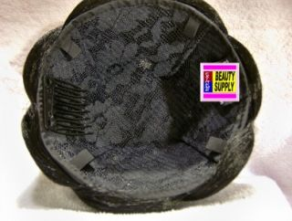 Hair Dome Piece Bun Big Large Chignon Wiglet 1B 27 Black Auburn Dance