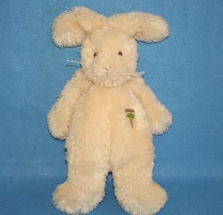 Bunnies by The Bay 11 Rutabaga Cream Bunny Rabbit Rattle Plush Baby