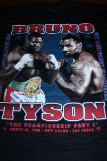 Vintage Mike Tyson V Frank Bruno 1996 Boxing Shirt XL