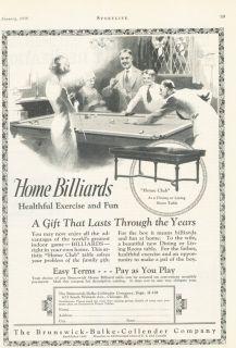 1926 Brunswick Balke Billiards Pool Home Club Sport Game Play Ball