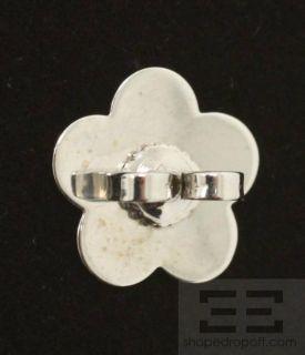 Pasquale Bruni 18K White Gold Aquamarine Peridot Floral Stud Earrings