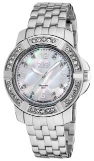 Burgi BUR069SS Stainless Steel Diamond Bracelet Womens Watch