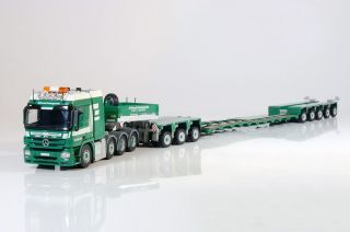 SOLD OUT TEKNO 1 50 BRUNNER MERCEDES BENZ ACTROS 8x4 GOLDHOFER 3 5 LOW