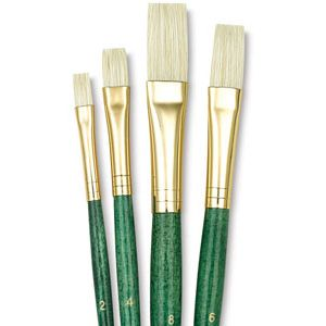 Princeton Brushes Natural Bristle Hair 4 Brush Set Acrylic Oil Stain