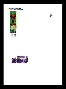 Jack Kirby Fantastic Four 76 RARE Production Art Cover