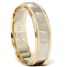 Mens Gold High Quality Wedding Band Brushed Ring Free Sizing